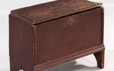Early Red-painted Miniature Blanket Chest