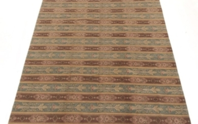 Tibetan-French Savonnerie Style Hand-Knotted Carpet