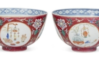 A pair of Chinese porcelain bowls, Guangxu...