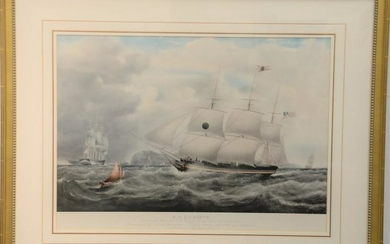 After Samuel Walters, colored lithograph, S.S. Europe