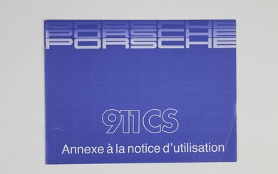 Owners Manual- for Porsche 911 Carrera 3.2 Clubsport from- 1987-1989