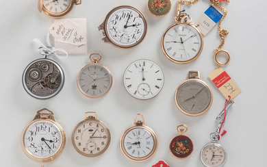 Fourteen Pocket Watches from the Hamilton Watch Co. Archives