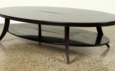 LARGE MORDEN OVAL WOOD 2-TIER COFFEE TABLE