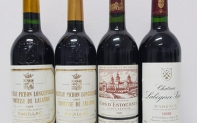 Mixed lot Château Bordeaux 1989/1995