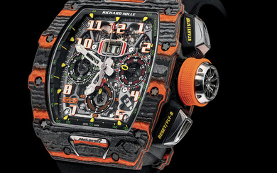 RICHARD MILLE RM 11-03 AUTOMATIC FLYBACK CHRONOGRAPH MCLAREN The RM 11-03 McLaren combines the stylistic codes of the British manufacturer with those of Richard Mille. Its case and movement put at the forefront the McLaren attitude, motorsport,...,