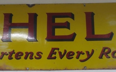 Two enamel signs,