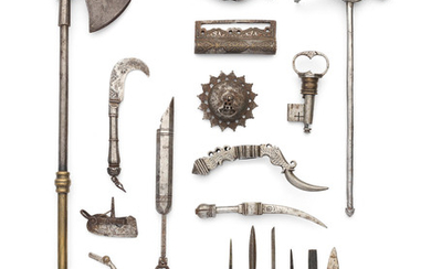 A collection of Qajar steel tools