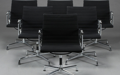 Charles Eames. Lounge chair, Model EA-108, in black fabric (6)