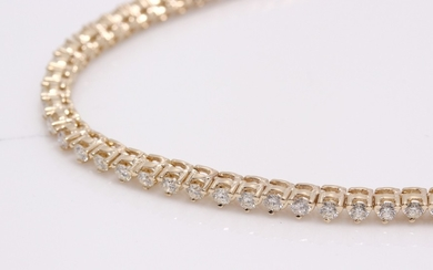 Diamond necklace with brilliant cut diamonds 7.00ct