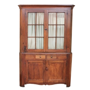 Lot Art Antique Pine Corner Cupboard