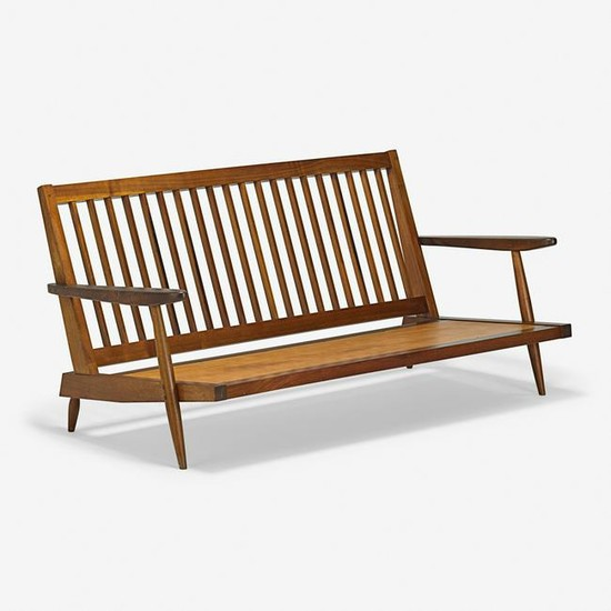 GEORGE NAKASHIMA Settee with Arms