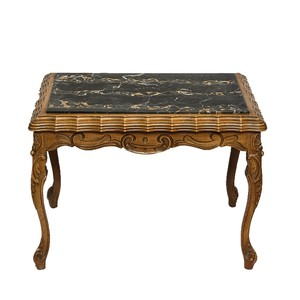 French Provincial Side Table With Cane