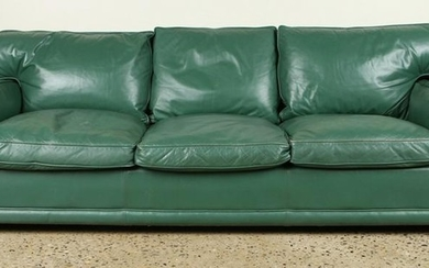 JACQUES ADNET STYLE LEATHER SOFA CIRCA 1950