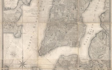 "Colton's Rare Edition of the ""Ratzer Map"" of New York City, ""Plan of the City of New York in North America Surveyed in the Years 1766 & 1767"", Colton, Joseph Hutchins"