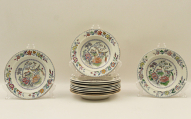 SET OF 12 ENGLISH MASONS IRONSTONE BOWLS