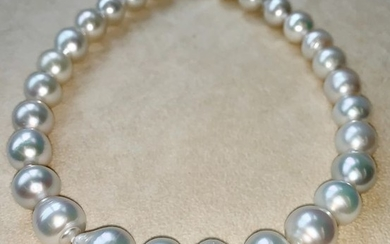 18 kt. Saltwater pearls, South sea pearls, White gold, Size from Ø 14 to 16,4MM - Necklace