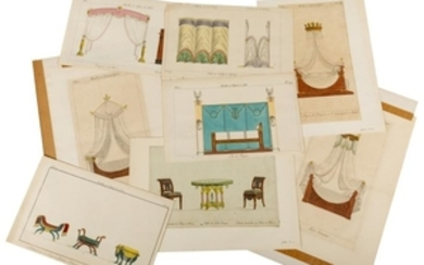 Antique French - Hand Colored - Engravings