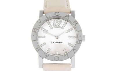 BULGARI - a lady's Bulgari wrist watch. Stainless steel