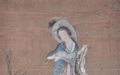 A Chinese painting on silk