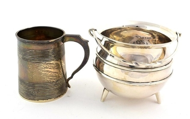 A George III Silver Mug, maker's mark ?B, London, 1812,...