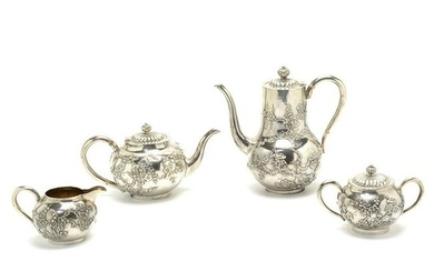Wang Hing & Co. Chinese Export Silver Tea Set.