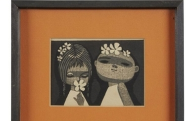SHUZO IKEDA (1922-2004) CHILDREN, FIVE PRINTS The largest signed...