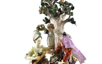 A Meissen Porcelain Figure Group, late 19th century, as a...