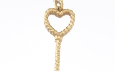 Tiffany & Co. Gold Key on Chain Necklace