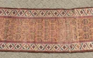 A PERSIAN CAUCASIAN RUNNER. 12ft 6ins x 3ft.
