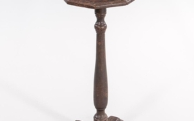 Spanish Brown-painted Octagonal Cross-base Stand