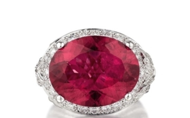 Magerit - Magerit Versailles Couple Special Rubellite and Diamond Ring