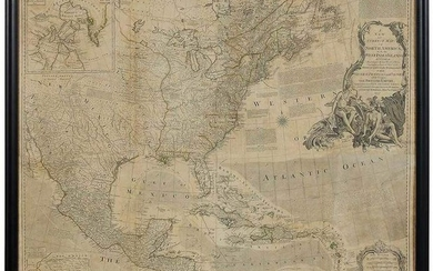Sayer And Bennet Map of North America, 1777