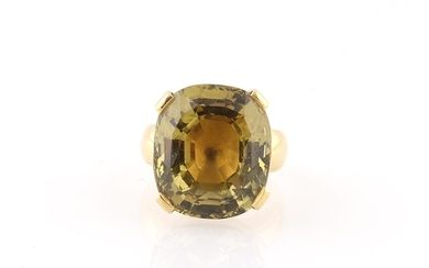Chrysoberyll Ring ca. 20 ct