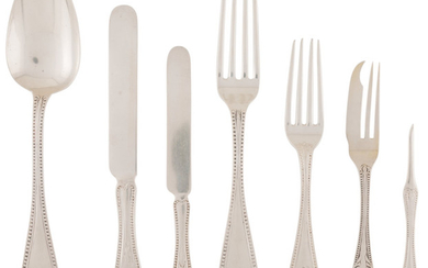 21036: Twenty-One American Silver Flatware Pieces, late