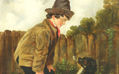 Painting, Attributed to John George Brown