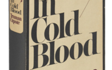 CAPOTE, TRUMAN. In Cold Blood. 8vo, publisher's...