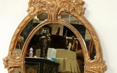 Cast Louis XV style oval mirror