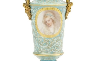 A French gilt bronze-mounted and enameled vase