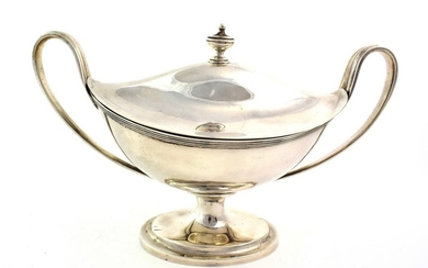 A George III Silver Sauce-Tureen and Cover, by Abstainando King,...