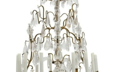 A Louis XV style twelve light chandelier