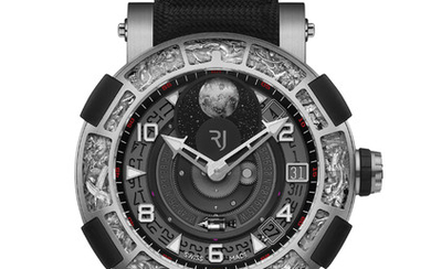 RJ ARRAW 6919 ONLY WATCH The ARRAW 6919 Only Watch, featuring RJ patented in-house 360° Moon movement, will inspire wonder for anyone who is fascinated by science, mechanics, and the vast universe of space.,