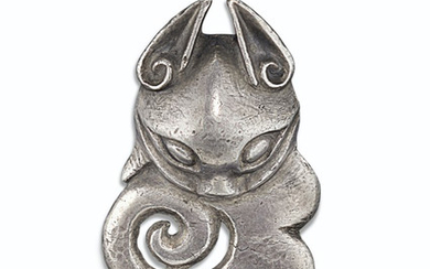 AN UNUSUAL AND RARE SILVER ORNAMENT, NORTHWEST CHINA , 4TH-3RD CENTURY BC