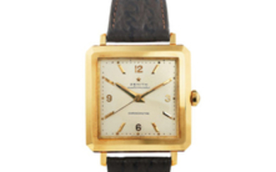 Zenith. A Rare and Large Yellow Gold Centre Seconds Wristwatch, Ref. 748616