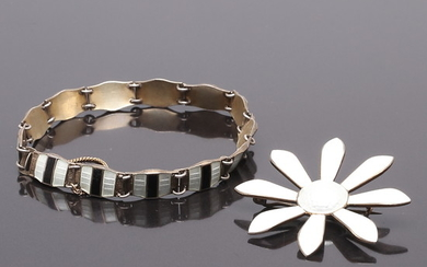 BROSCH, ARMBAND, Sterling Silver, Norge.