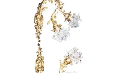 Large French Rococo Sconces - a Pair