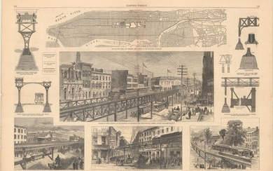 """Rapid Transit in New York. - From Photographs by Pach and Sketches by Theo. R. Davis"", Harper's Weekly"