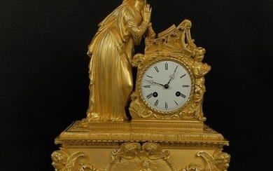 Carriage clock - Bronze (gilt/silvered/patinated/cold painted) - 19th century