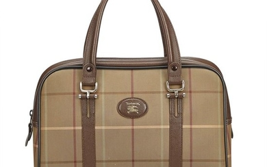 Burberry - Plaid Canvas Boston Bag Boston Bag