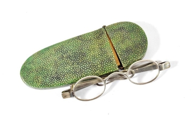 A Pair of George III Silver Spectacles, maker's mark IS...
