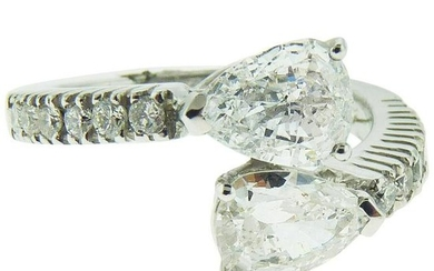 RI1341 Platinum Diamond Ring